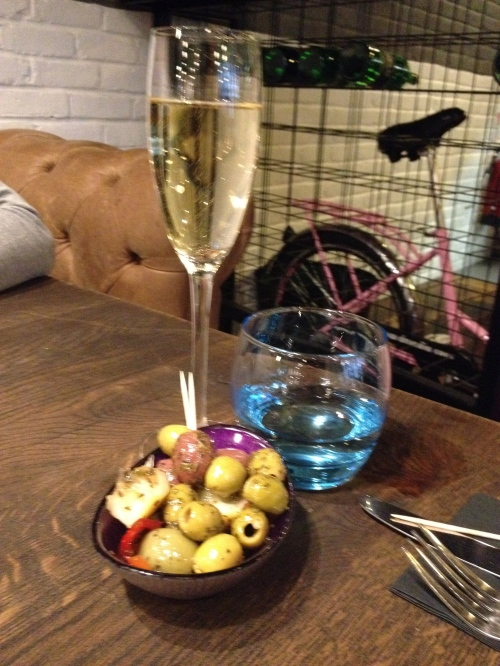 The Happenstance: Prosecco and olives